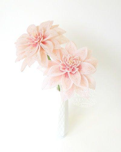 French Beaded Dahlia Flowers - by Lauren Harpster of Lauren's Creations