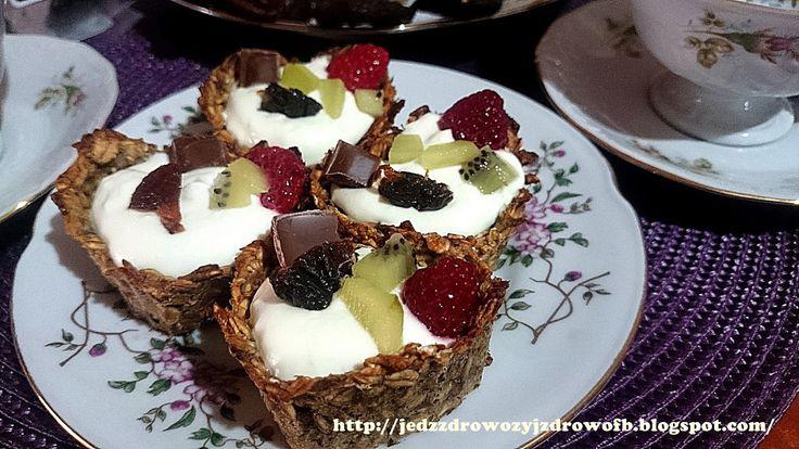 Jedz zdrowo żyj zdrowo: Babeczki bananowo-owsiane z masą jogurtową