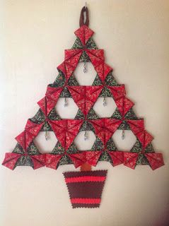 Little by Little by Bossymamma: Folded Fabric Christmas Tree - A Tutorial