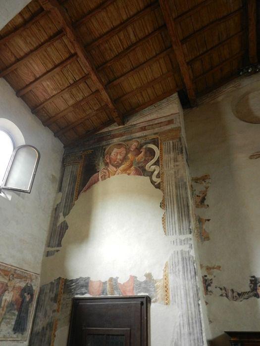 """""""San Cristoforo"""" - Resti di  affreschi XV sec. - Chiesa San Michele al pozzo bianco - Bergamo (Italia)"""