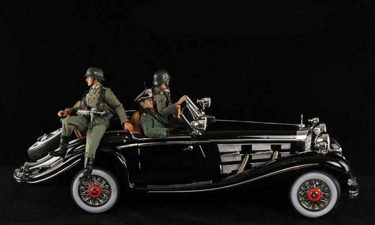 1 6 Large Scale RC WWII German Leader Car Mercedes Benz Von Krieger 540K Black…