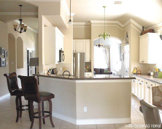 Neutral kitchen with white chalk paint cabinets kitchen for Neutral kitchen colors