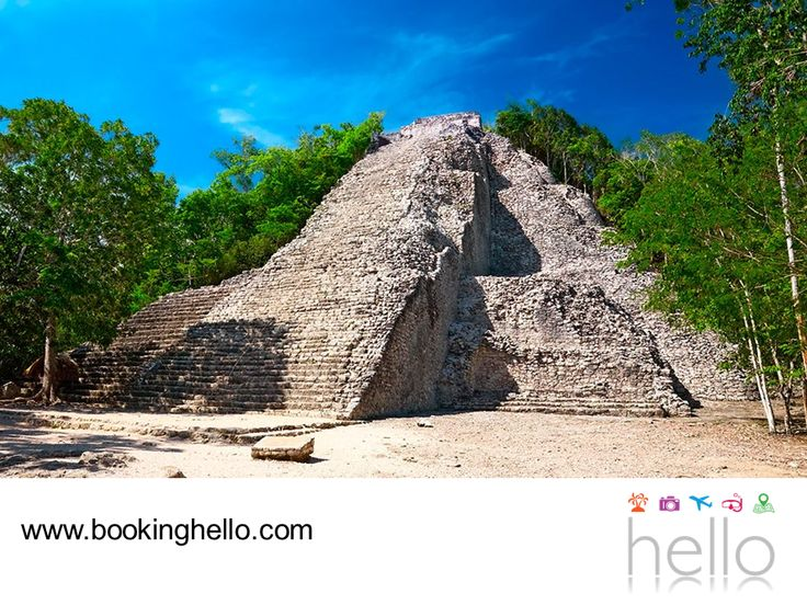 VIAJES DE LUNA DE MIEL. Cancún es una excelente opción para viajar y disfrutar de una relajante luna de miel con uno de los packs all inclusive de Booking Hello y también, para que tú y tu pareja agreguen un poco de diversión gozando de su amplia oferta turística. Cobá es una de las ciudades mayas más antiguas y cuenta con una pirámide de 42 metros a la que pueden subir y conocer más sobre su historia, además de contemplar su entorno natural. #lunademielenelcaribe