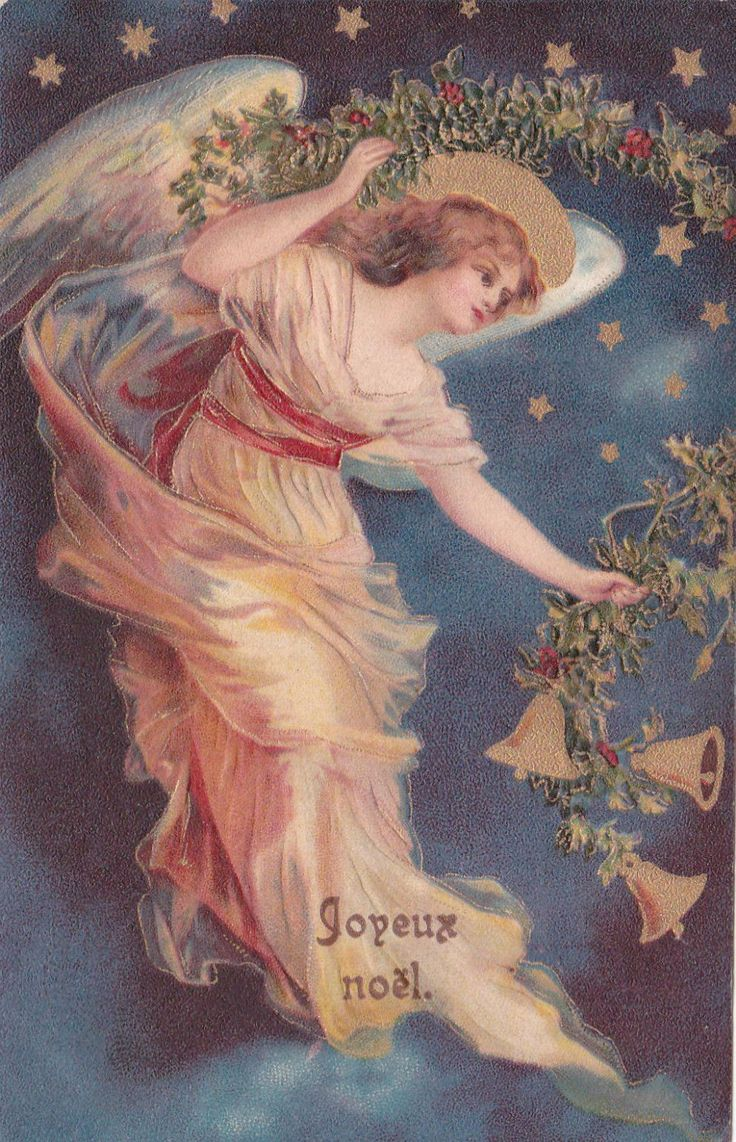 Beautiful Christmas Angel Unsigned Ellen Clapsaddle Vintage 1904 French PC | eBay