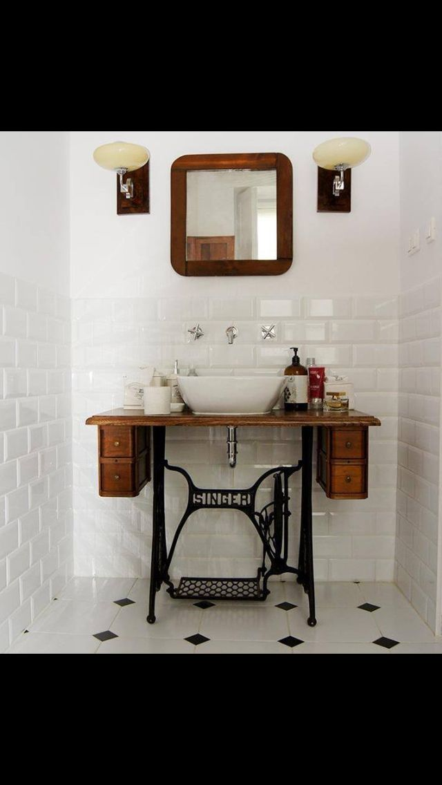 Love Floor Tiles and sewing table top with drawers