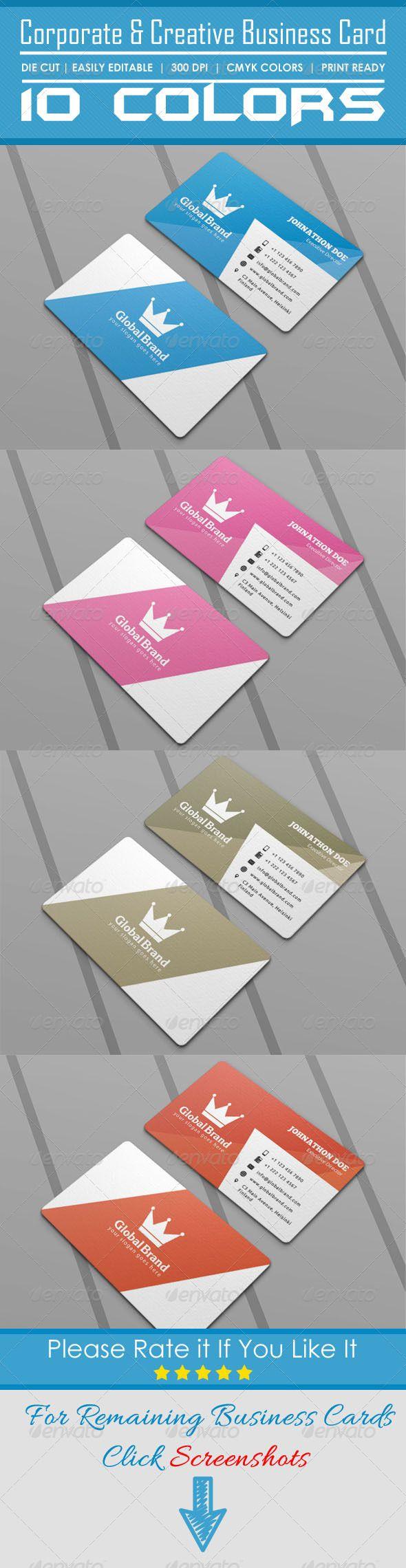 Corporate & Creative Die Cut Business Card