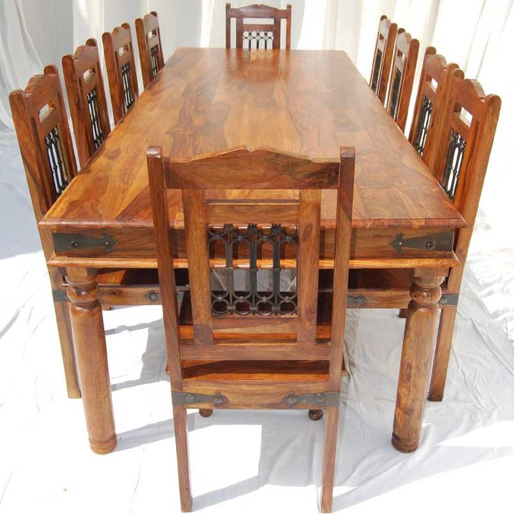 teak wood dining table with 6 chairs rustic room sets solid set reclaimed