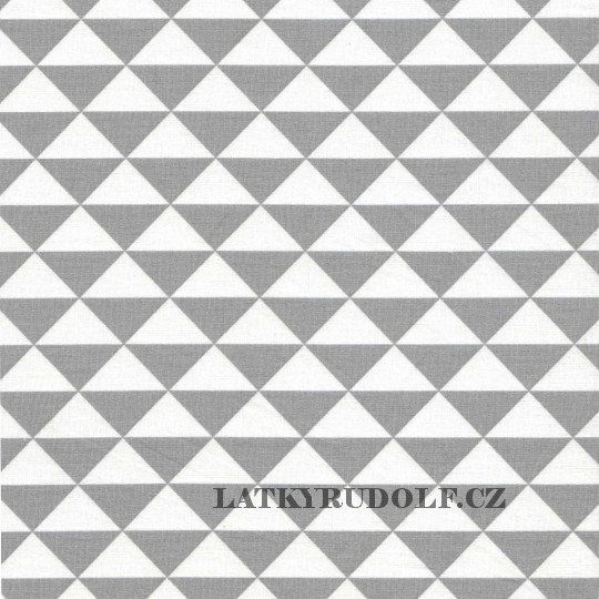 Látka Trojúhelníky šedé 101115 > šíře 160cm