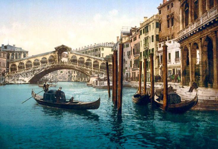 Il Canal Grande e Ponte di Rialto, Venezia