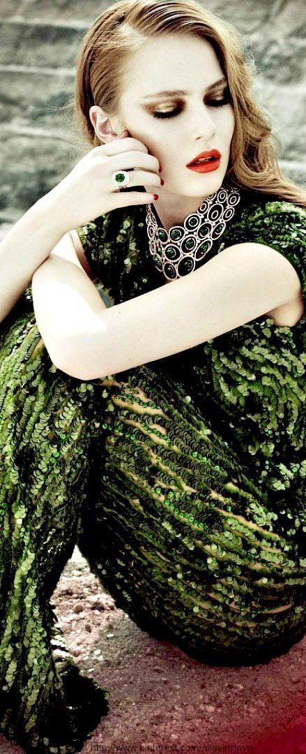 Edda Oscars in Elie Saab for Harrods magazine by Lain Crawford