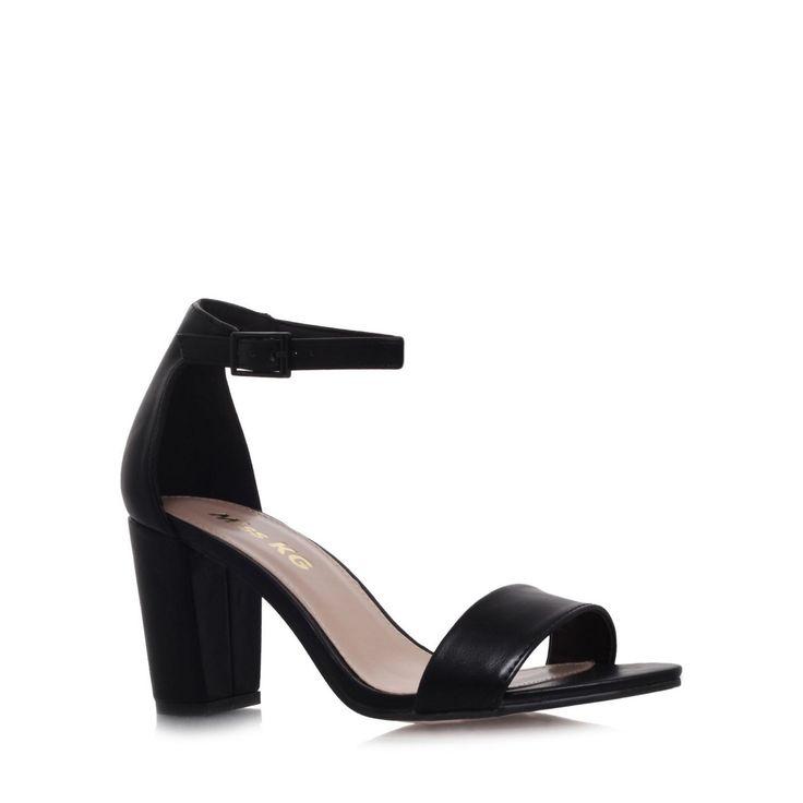 Miss KG Black 'Paige' mid heel sandals