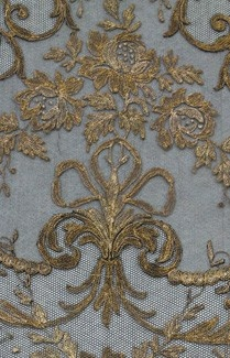 Fine blue and gold antique fabric