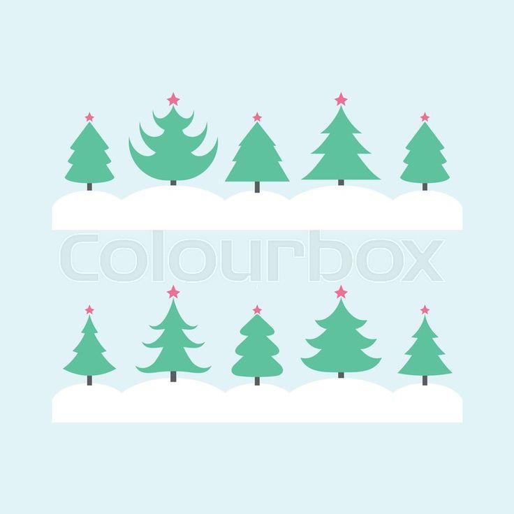 Christmas tree illustration, vector graphic