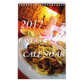 イタリアンで実際に食べたパスタorサラダorスイーツその他の写真アメリカ用2017年カレンダー カレンダー