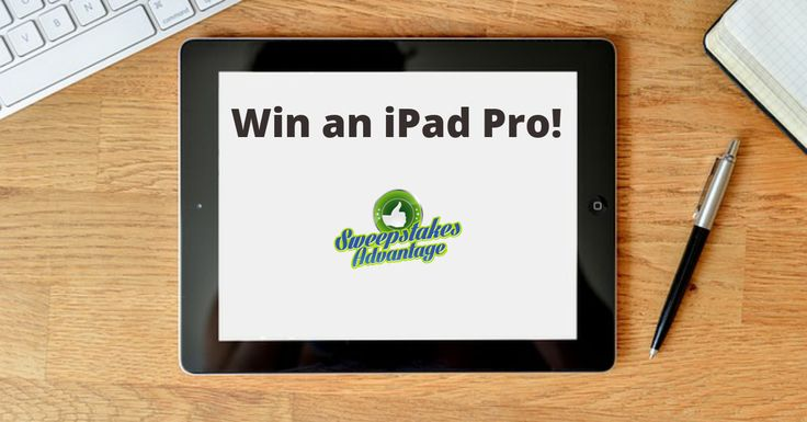 Win an iPad Pro from @SweepsAdvantage. The Largest Directory of Online Sweepstakes! #sweepstakes