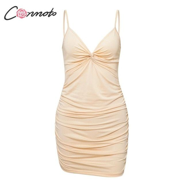 4 colors bodycon women summer dress solid party dresses spaghetti strap dress plus size vestidos 1