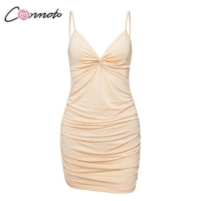 4 colors bodycon women summer dress solid party dresses spaghetti strap dress plus size vestidos 2