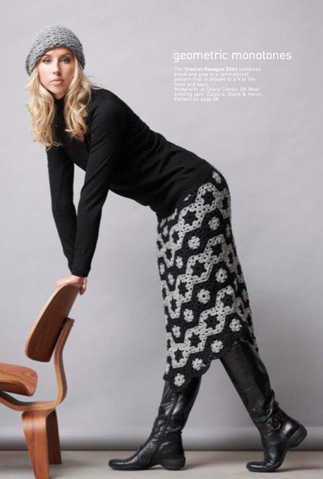 Crochet Hexagons Skirt, Jo Sharp Issue 9