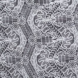 Special collection:  Mood's exclusive acquistion of fine designer lace fabrics from a leading lace atelier. This lightweight guipure lace features an intricate, multi-motif design. A sophistricated addition to any garment.