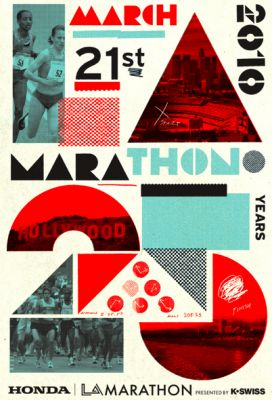 LA Marathon 25th Anniversary Poster by Studio Number One / Cleon Peterson