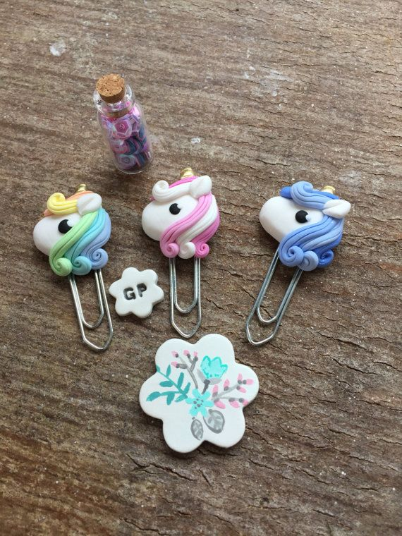 Unicorn paperclip planner accessories happy planner kikki k