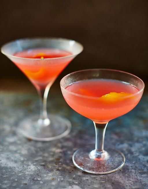 Cosmopolitan Cocktail  Made famous by Sex and the City, the Cosmo is a fun, fruity cocktail. Our easy recipe is brought to life by the flamed garnish. Give it a go!