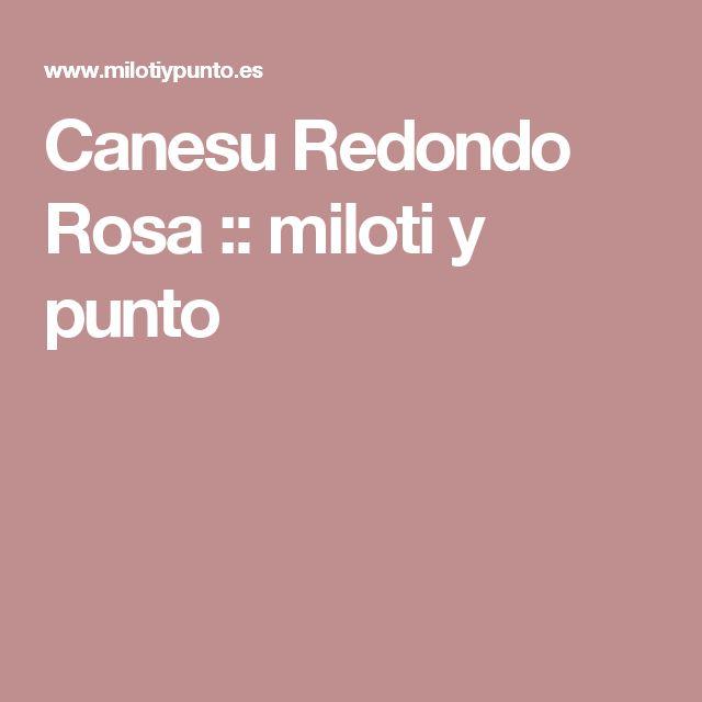 Canesu Redondo Rosa :: miloti y punto