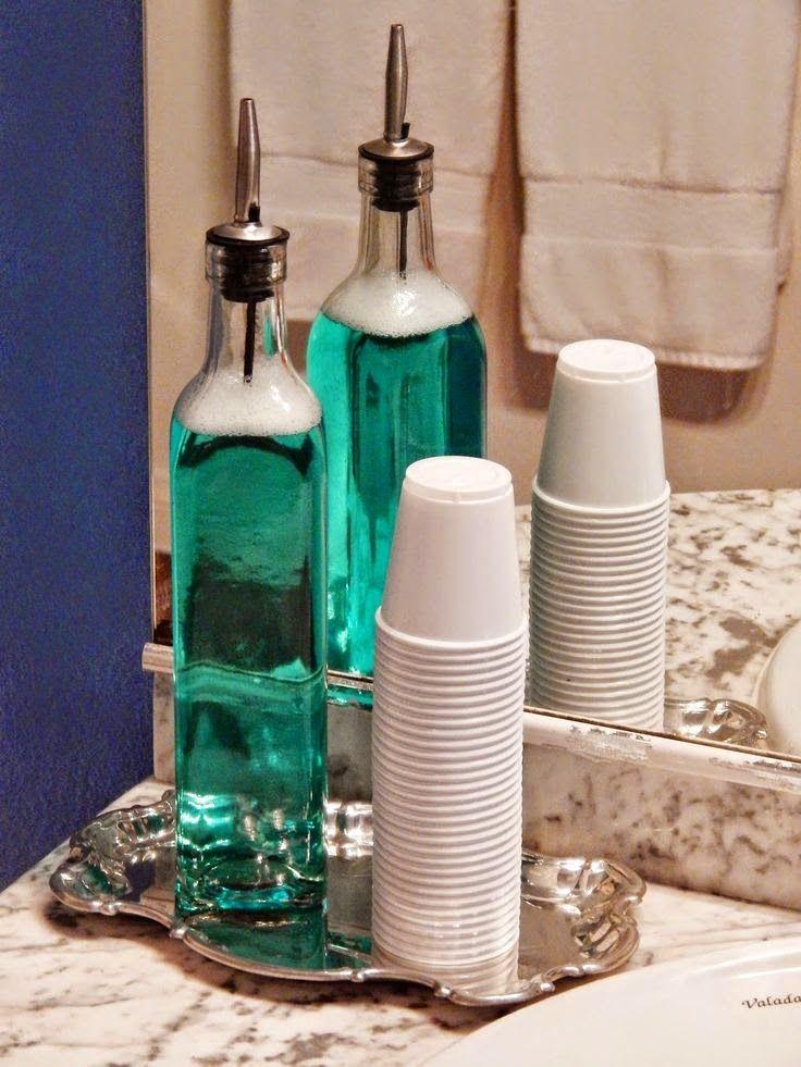 Good way to avoid those big ugly mouthwash bottles