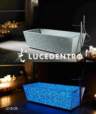bath made with glowing mosaic tiles...OH MY GOOODNESSSSSS!!!!!!: Dark Tile, Glowing Stuff, In The Dark Bathroom, Mosaic Tiles Oh, Dream, Glowing Mosaic, Mosaic Bathtub, Design Bathroom