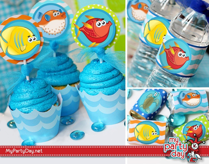 Printables for a under the sea party / Imprimible para una fiesta bajo el mar