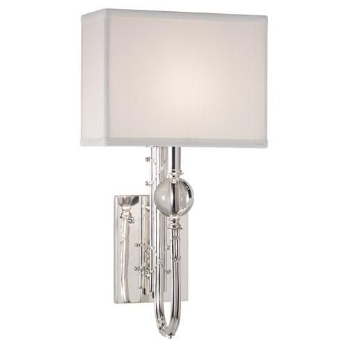 Mary mcdonald ondine wall sconce by robert abbey silver plate finish with crystal accents and