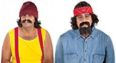 Jill: This would be myself and my boyfriend Kyle. We dressed as Cheech and Chong last Halloween. I got the idea for the costume just by my love for the movie...