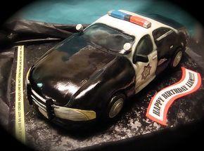 Sheriff's or Police Car Cake