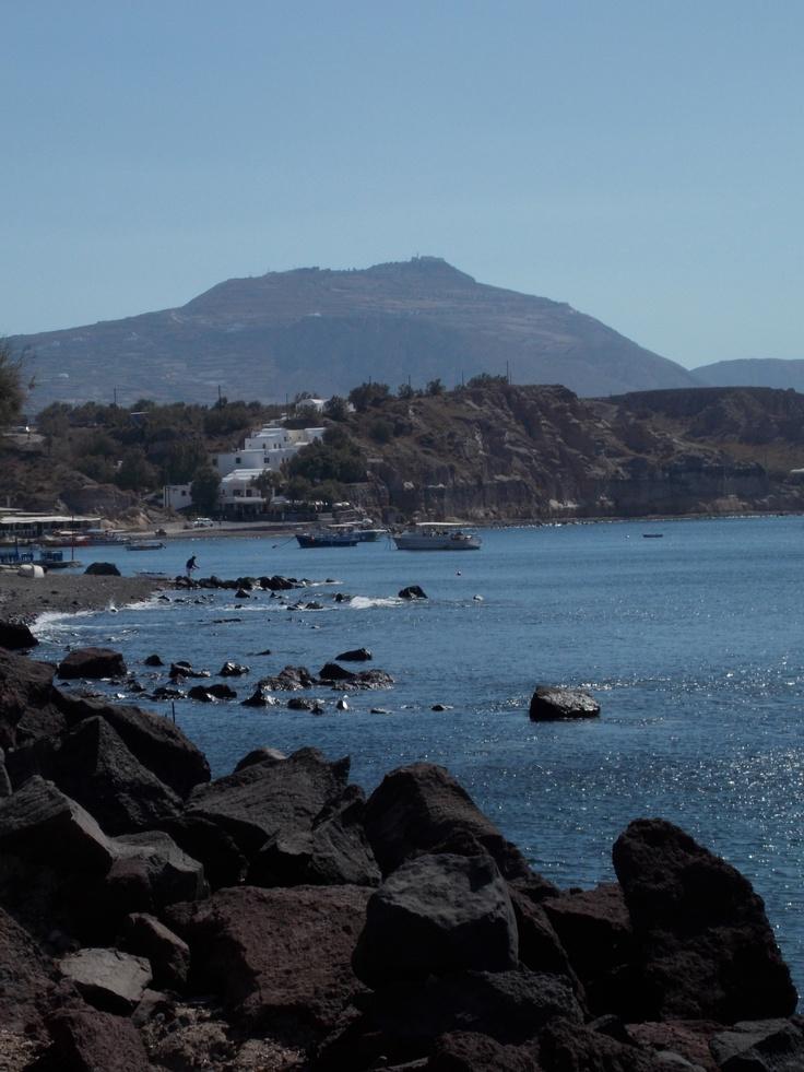 Black Lava Beach • Santorini • Greece