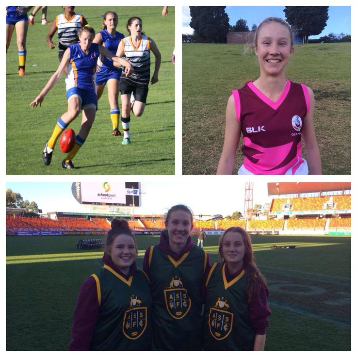Congratulations to the three #Queensland U16 School Girls selected in the All Australian Team. #AFLSC representative Tahlia Randall was also named player of the Championships!