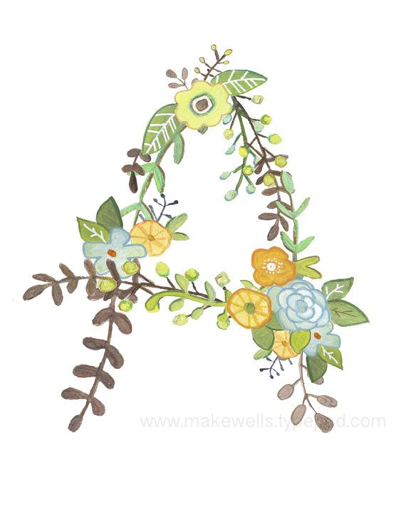 A Floral Print by Makewells on Etsy