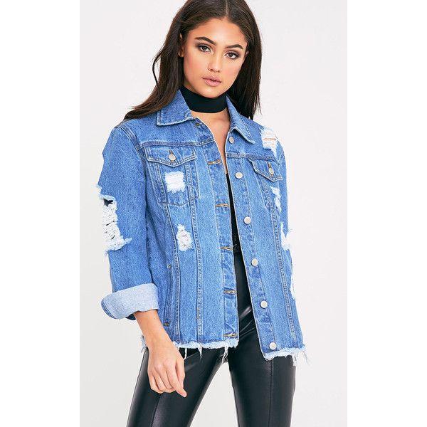 25  best Distressed jean jacket ideas on Pinterest   Oversized ...