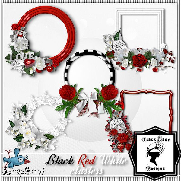 Black Lady Designs: Black Red White - new kit