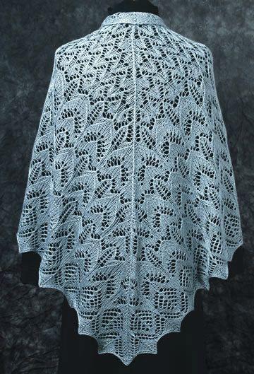 Lace Knitting Patterns | ... Sample knit with 50% mulberry silk / 50% merino wool laceweight