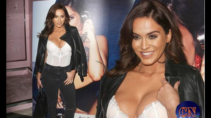 Newly-engaged Vicky Pattison puts on an eye-popping display sporting bri...
