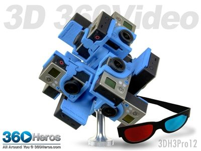 #360Heros Plug-n-Play Holder for 12 #GoPro Cameras. This #technology is designed to shoot 360-degree, fully-spherical video.