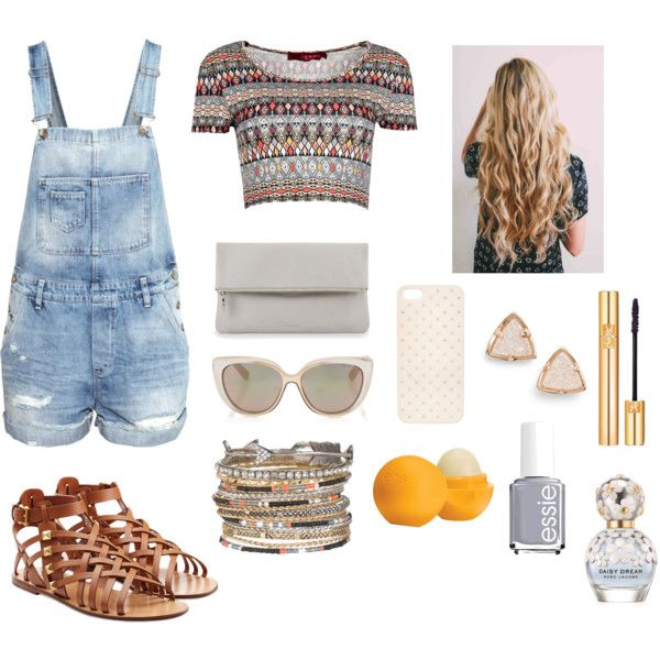 Brown and orange summer outfit