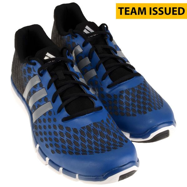 Kansas Jayhawks Fanatics Authentic Team-Issued Adidas Adipure 360.2 Primo Black and Blue Shoes from the 2014-2016 Men's Basketball Seasons - Size 17 - $124.99