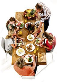 Table Talk: The New Family Dinner  by Susan Dominus  ....ummm... this was every weeknight in my house.