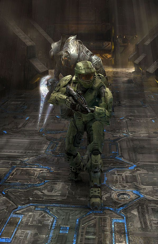 Halo 2 concept art :: Can you imagine having flooring that lit up like that? Cool, right?