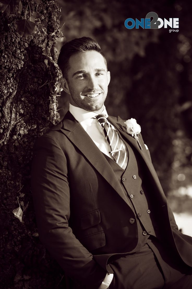 Dressed to impress - #groom #wedding #groomssuite #b&w #oakfieldfarm #suites #wedding #photography #one2onegroup