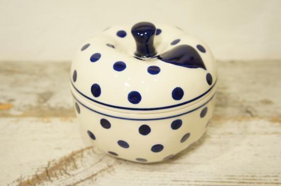 【ドイツ】ブンツラウアー陶器 りんごポット ブルードット(ハイゼ社) - Clave. 食器とキャンドルのお店