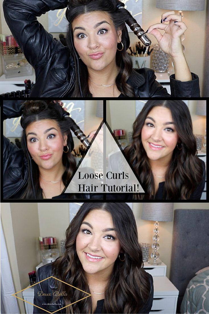 Loose Curls hair Tutorial Easy, Pretty, Long hair, Easy, Quick, Nume, Curls, Curling Wand, Sephora, Short hair