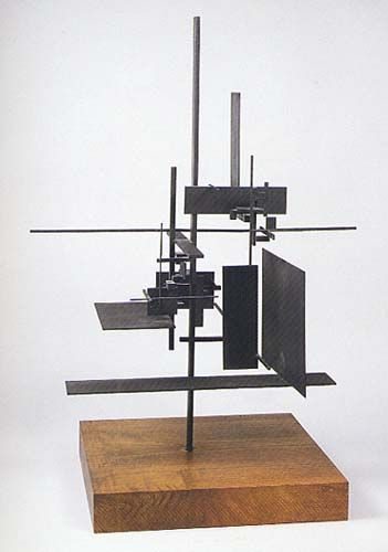 """Sidney Gordin, #7, 1955, in """"Great Planes: Planar Surfaces in American Cubism and Abstraction,"""""""