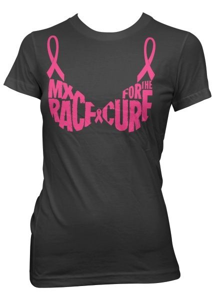 as seen on mtv real world portland episode 8 on cast member jessica mccain annual motocross race for a cure fundraising pink bra t shirt - Racing T Shirt Design Ideas